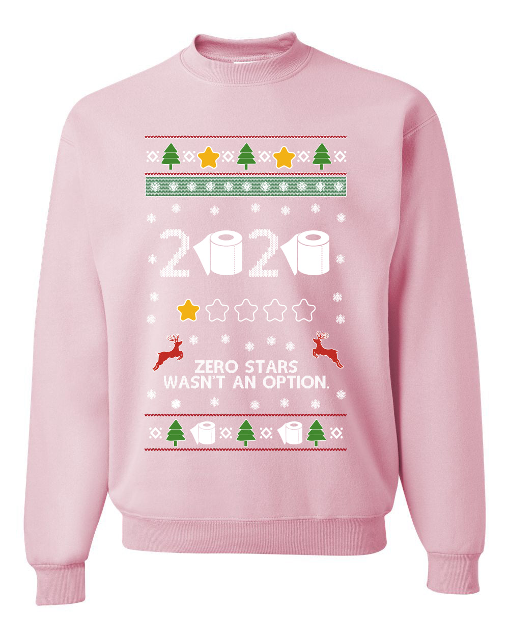 2020 Zero Stars Wasnt an Option Ugly Christmas Sweater Unisex Crewneck Graphic Sweatshirt