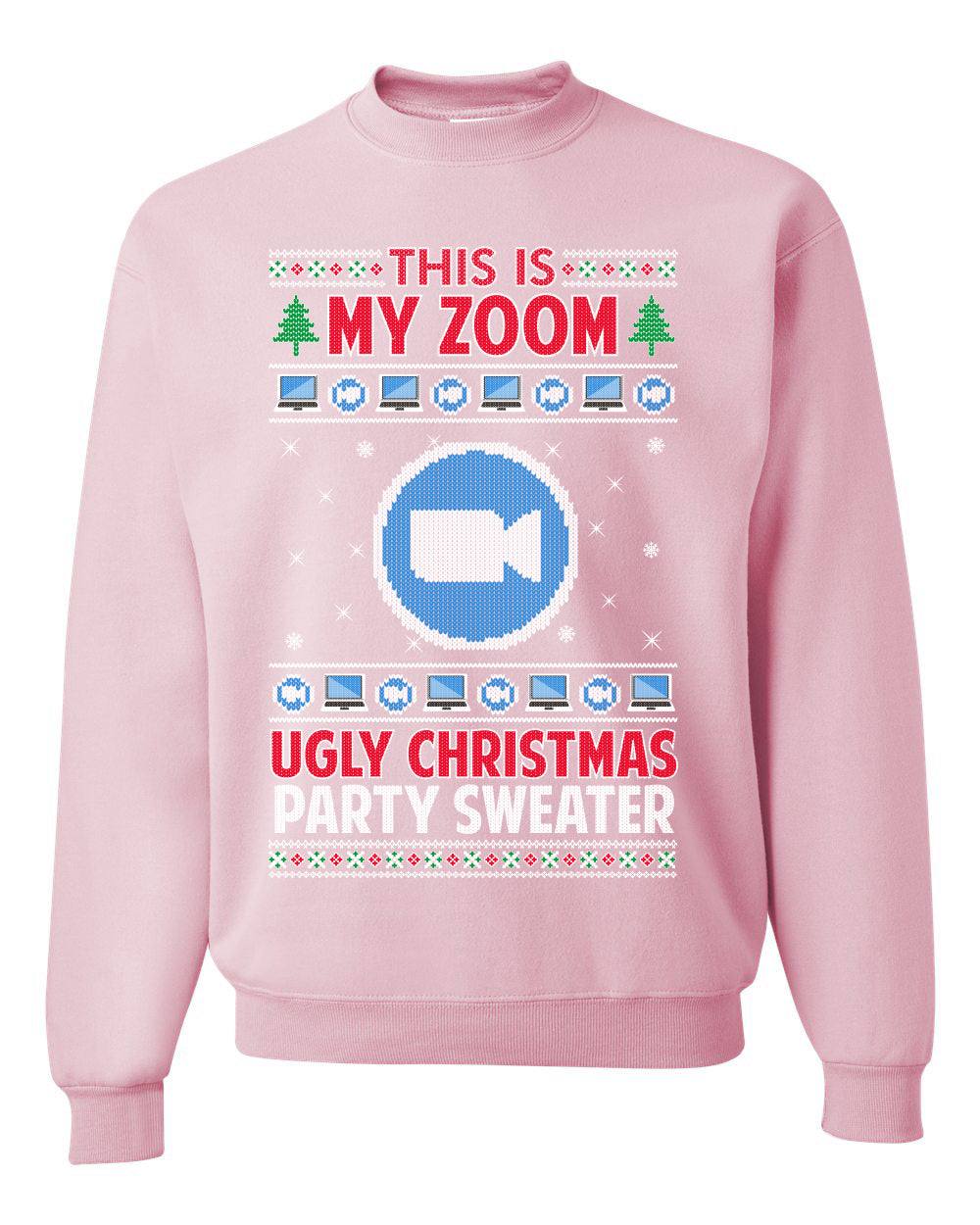 This Is My Zoom Ugly Christmas Party Sweater Ugly Christmas Sweater Unisex Crewneck Graphic Sweatshirt
