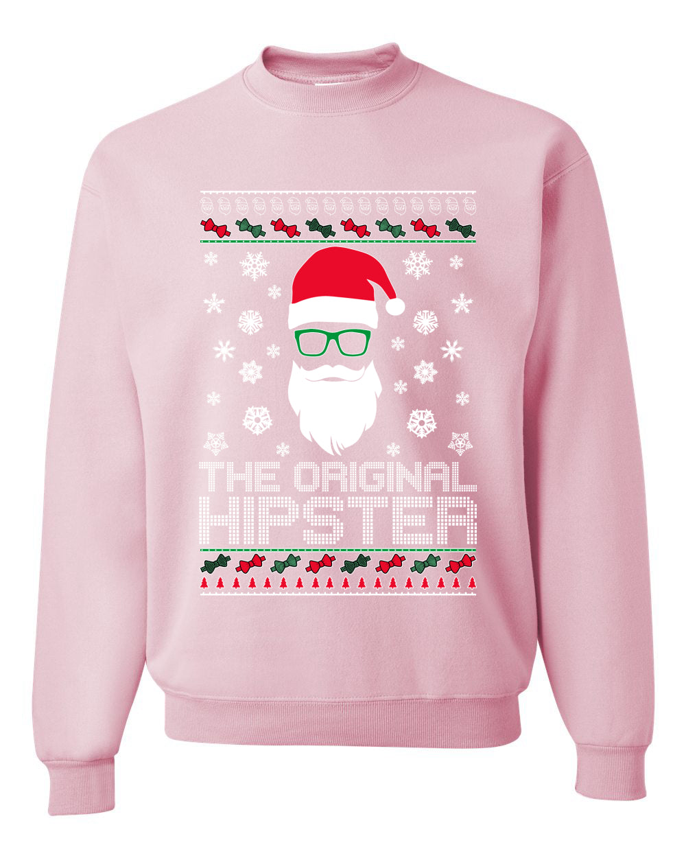 The Original Hipster Funny Santa Beard Xmas Christmas Unisex Crewneck Graphic Sweatshirt