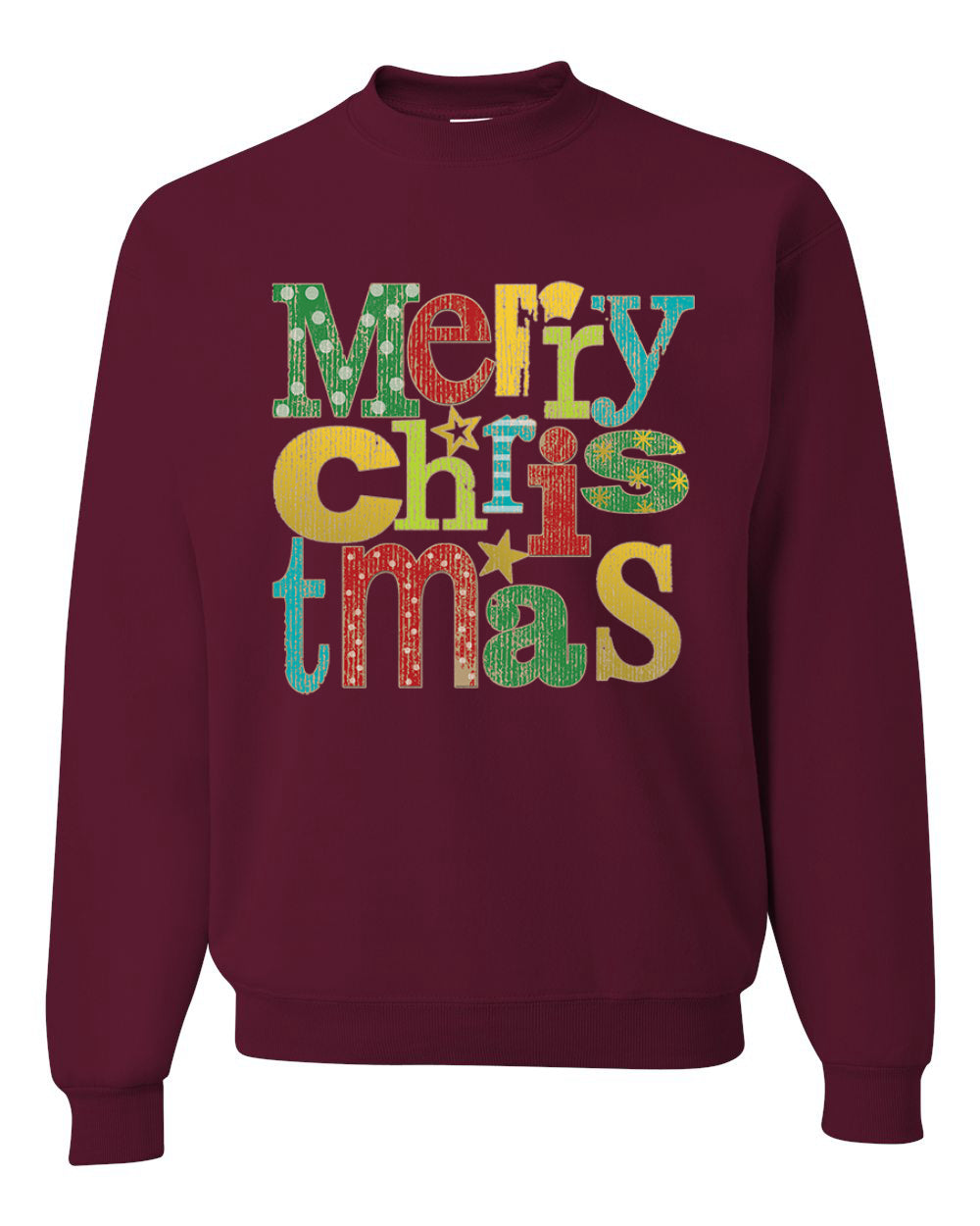 Colorfful Merry Christmas Decoration Christmas Unisex Crewneck Graphic Sweatshirt