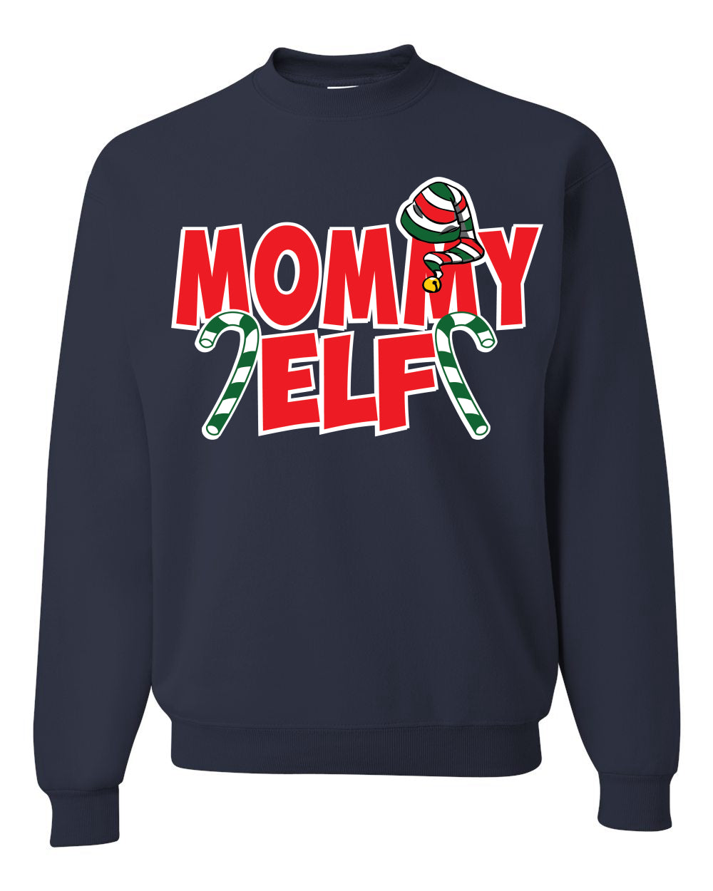 Mommy Elf Unisex Crewneck Graphic Sweatshirt