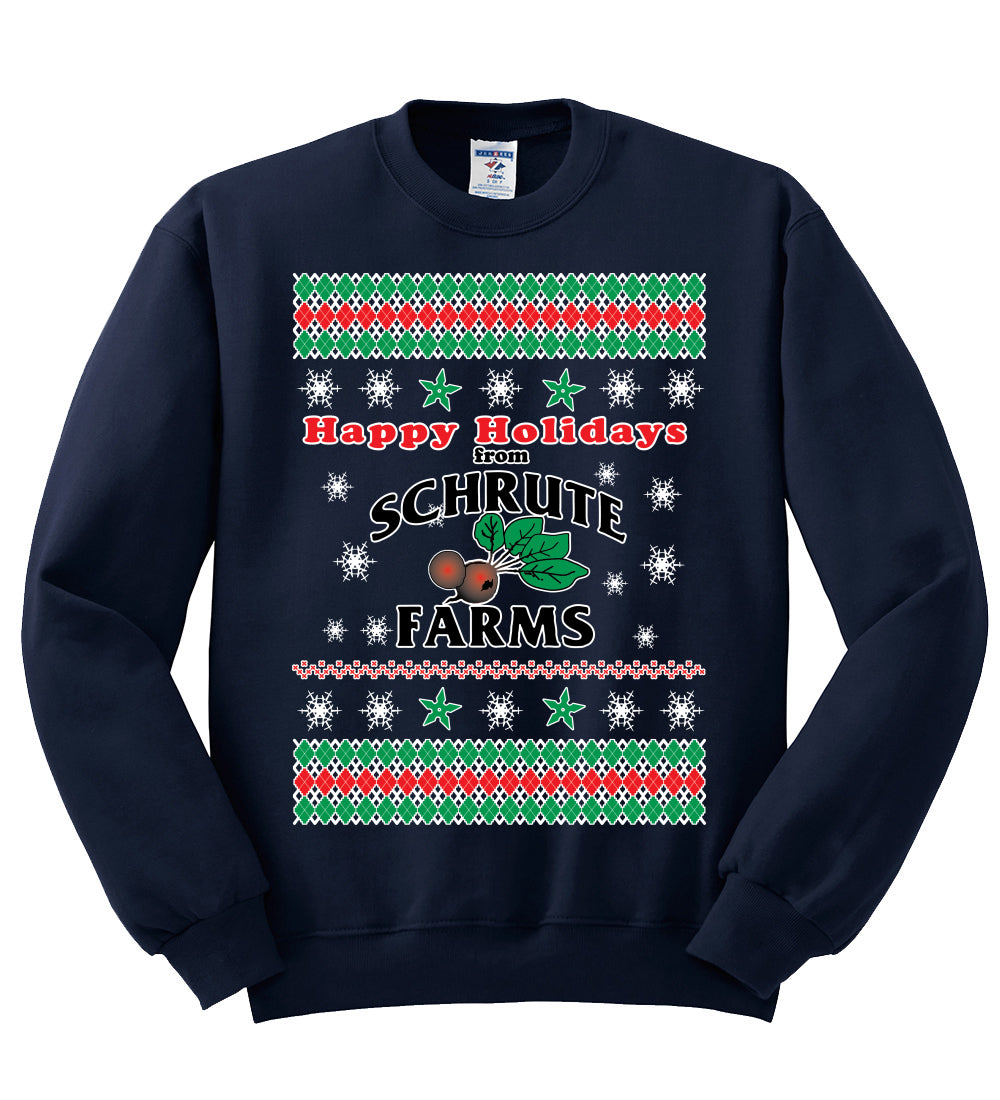 Happy Holidays from Schrute Farms Christmas Unisex Crewneck Graphic Sweatshirt