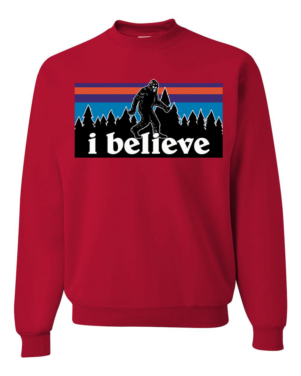 I Believe Big foot Christmas Christmas Unisex Crewneck Graphic Sweatshirt
