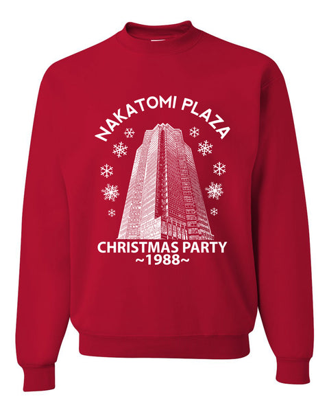 Nakatomi Plaza Christmas Party 1988 Classic McClane Die Hard Christmas Unisex Crewneck Graphic Sweatshirt