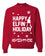 Happy Elfin Holiday Christmas Unisex Crewneck Graphic Sweatshirt