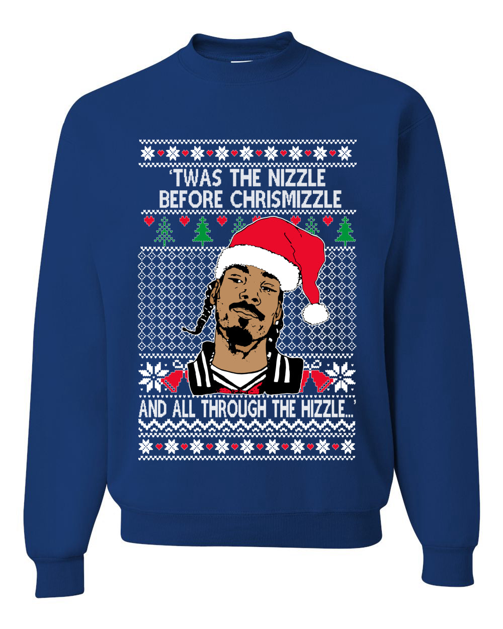 Snoop Twas The Nizzle Before Chrismizzle Christmas Unisex Crewneck Graphic Sweatshirt
