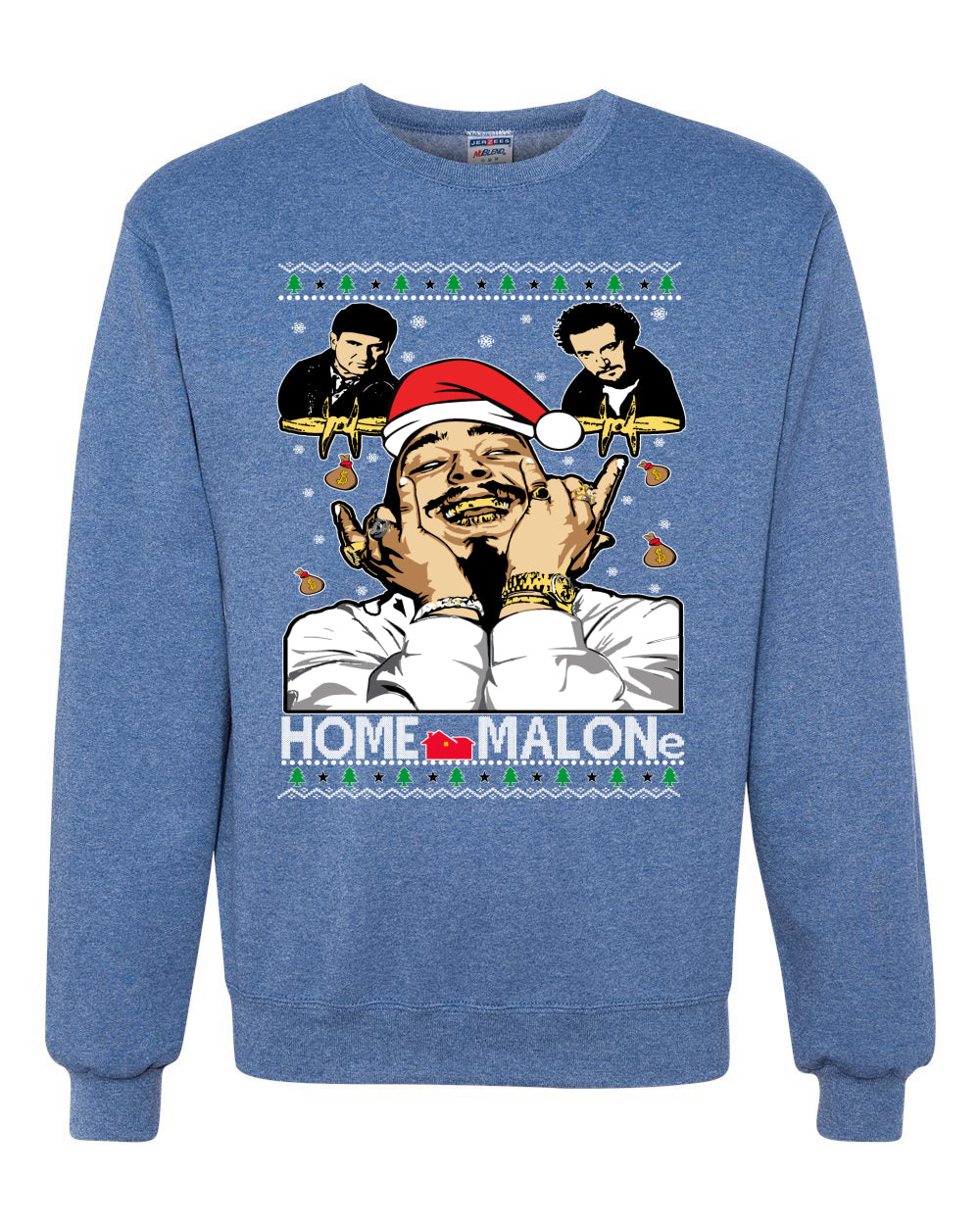 Home Malon White  Christmas Unisex Crewneck Graphic Sweatshirt