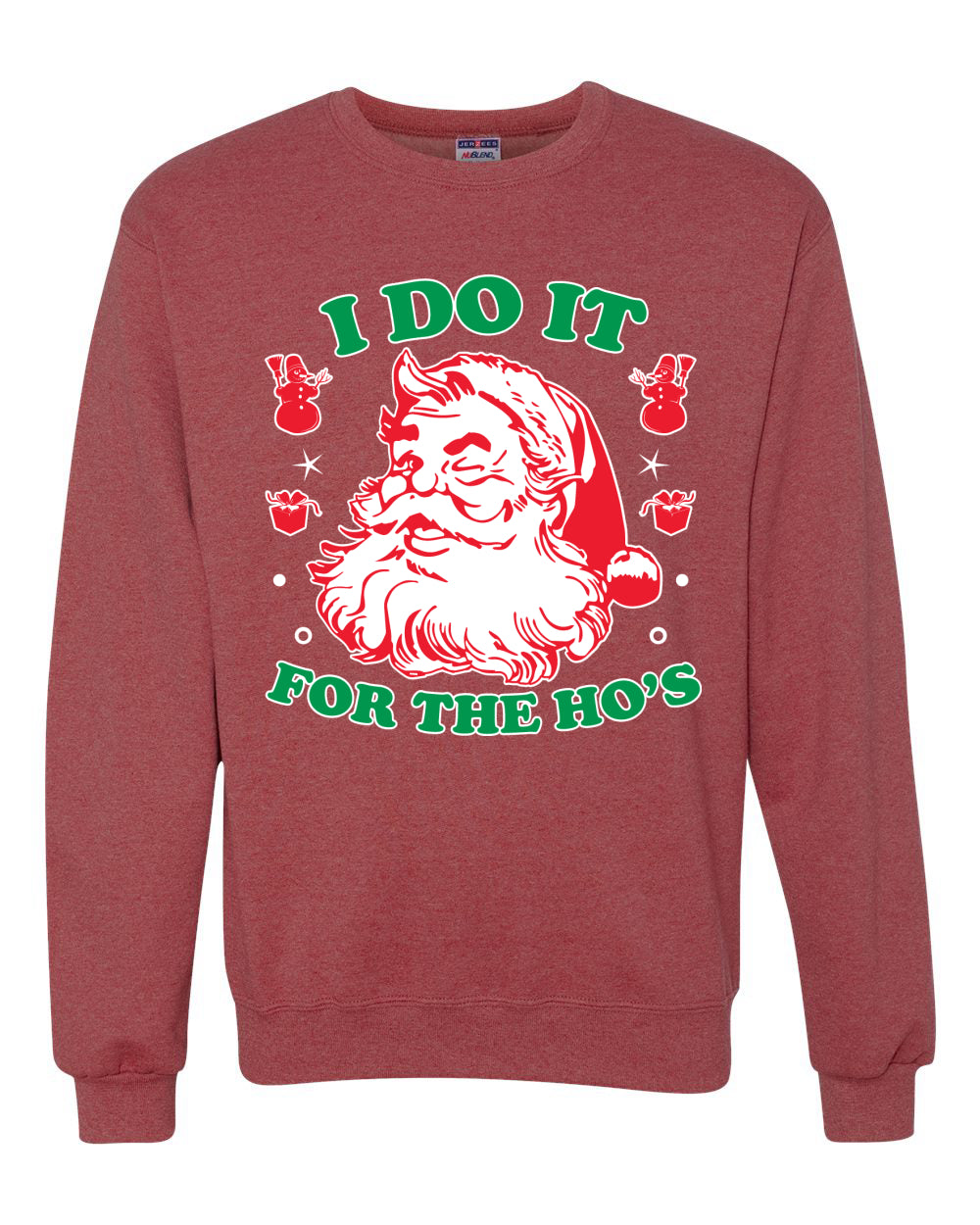 I Do it for the Hos Xmas Ugly Christmas Sweater Christmas Unisex Crewneck Graphic Sweatshirt