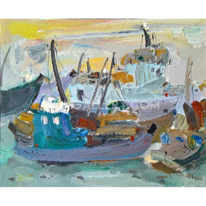 Boats in the port t022