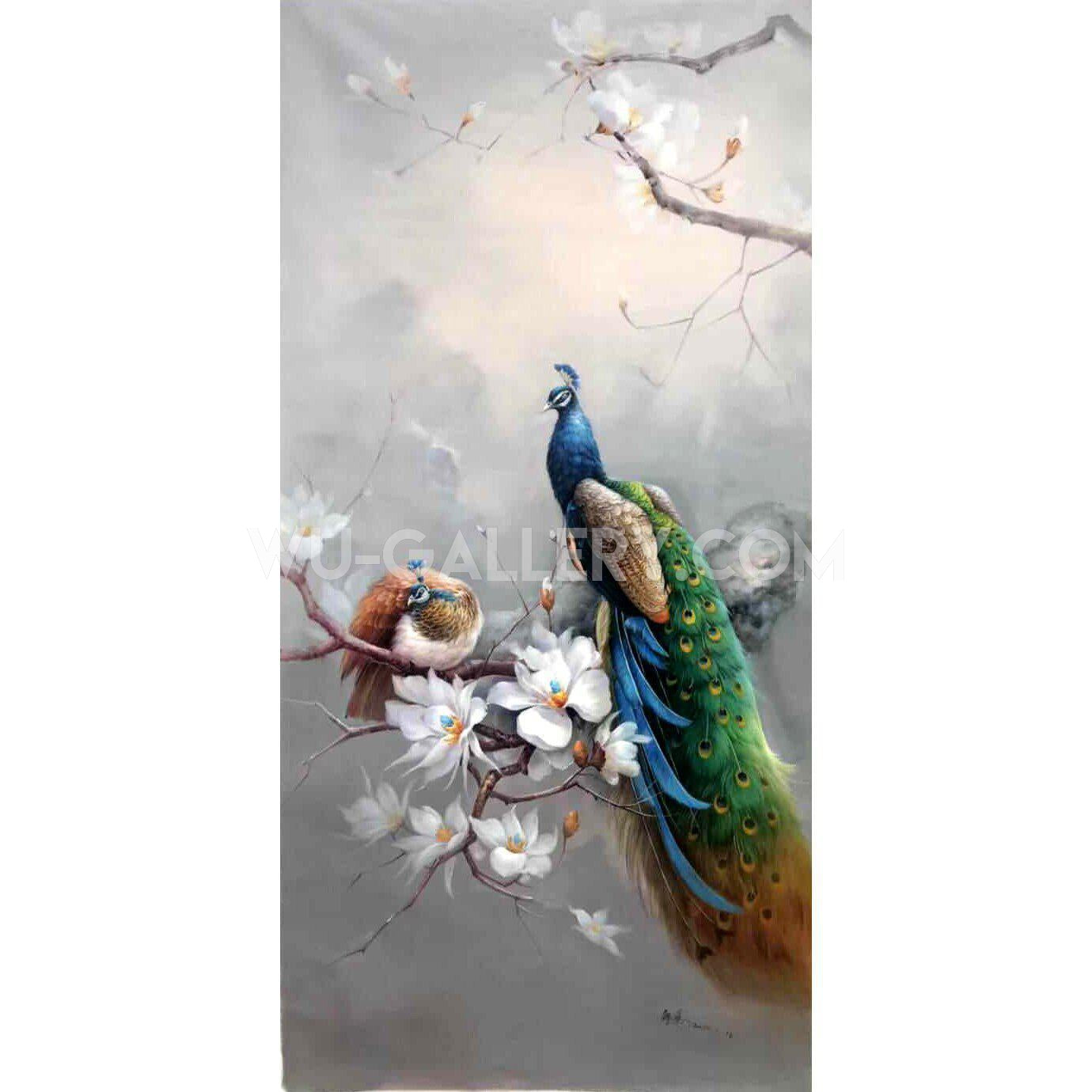 Peacock and floral 395