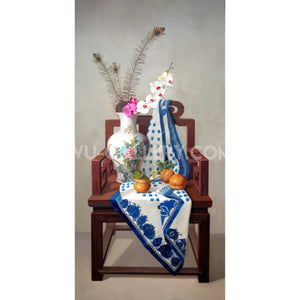 Still life oil painting:China Z001