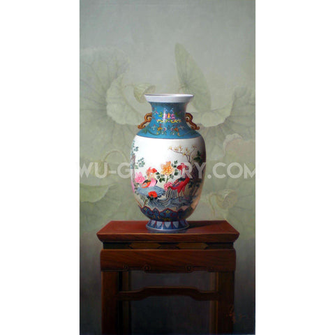 Still life oil painting:China Z004