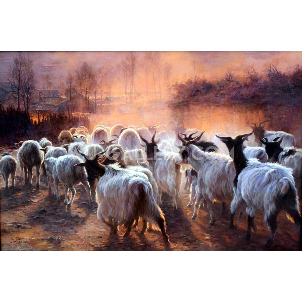 Flock of sheep j038p