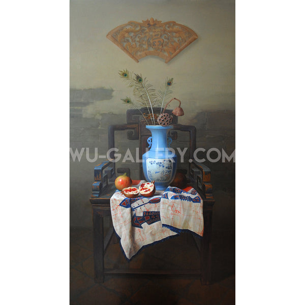 Still life oil painting:China t001m