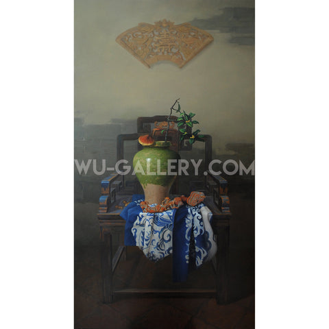 Still life oil painting:China t002m