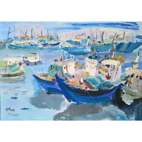Boats in the port t005