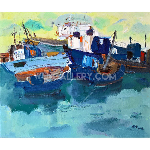 Boats in the port 007