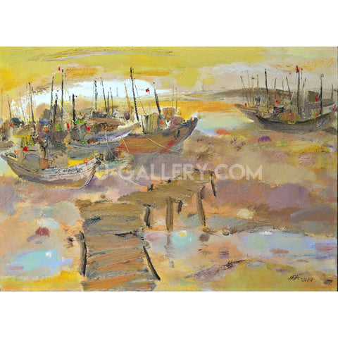 Boats in the port 011