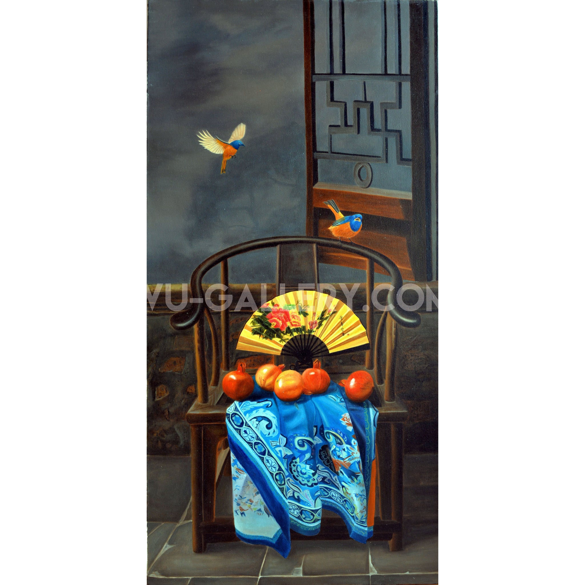 Still life oil painting:Chair t016