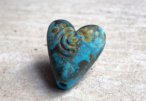 Rustic Turquoise Heart