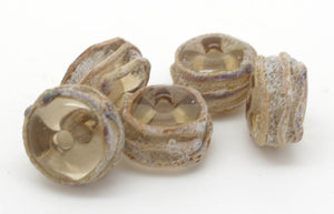 Brown And Raku Glass Beads - SRA Lampwork
