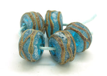 Load image into Gallery viewer, Aged Turquoise and Raku Glass Beads