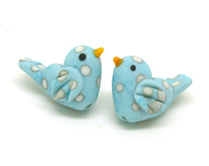 blue and ivory glass bird beads