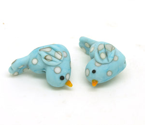 glass polka dot bird beads