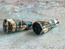 Load image into Gallery viewer, Rustic Cone Pair in Black, Turquoise & Ivory