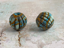 Load image into Gallery viewer, Rustic Pair in Turquoise &Ochre Yellow