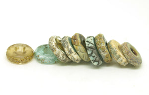 Rustic Disc Beads - Big Hole Bead Set.