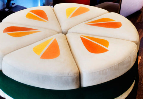 Sushi Style Carrot Ottoman - Set of Six