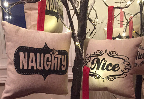 Sushi Style Naughty & Nice Pillow - Single