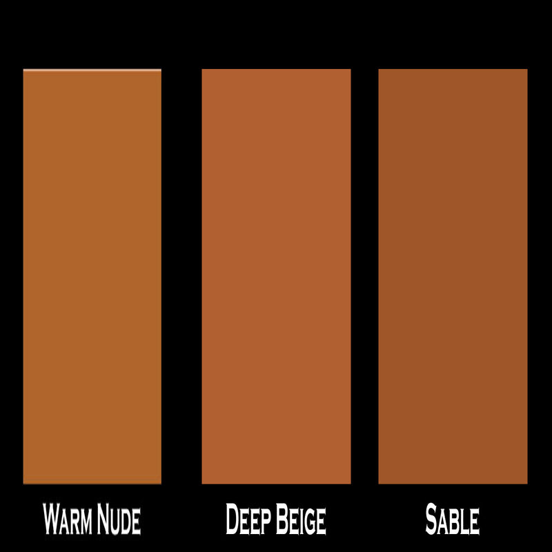 Warm To Dark Tan Tone Complexion Mineral Dropper Foundation Sample Pack