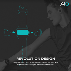 Wearbuds by Aipower: True Wireless HiFi Earbuds Charged on Your Wrist - Designed in USA - Myaipower