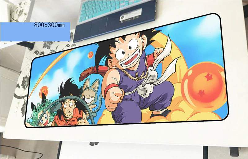 Grand tapis de souris dragon ball yamcha & bulma