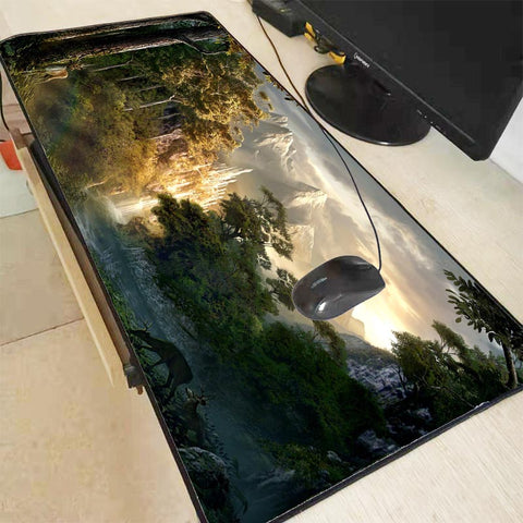 "Tapis de souris ""Waterfall Landscape Forest"""