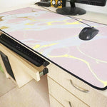 Tapis de souris Marbre Or Rose