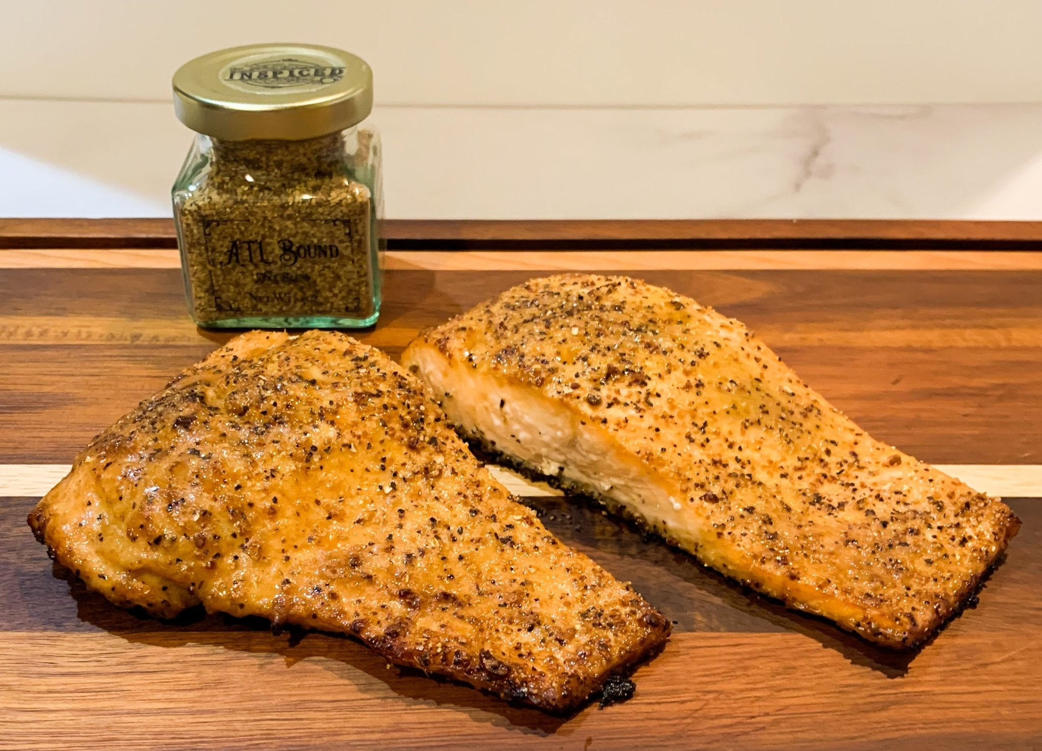 Marinated Lemon Pepper Salmon