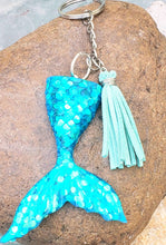 Load image into Gallery viewer, Mermaid Tail Resin Keychain - Shabbydabbsdesign