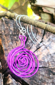 Swirl Earrings - Shabbydabbsdesign