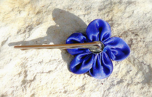 Silk & Chiffon Flower Hair Pin and Clips - Shabbydabbsdesign