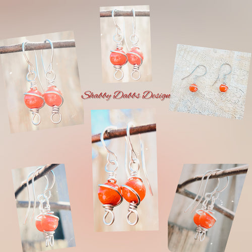 Spiral Wire Wrapped Earrings - Shabbydabbsdesign