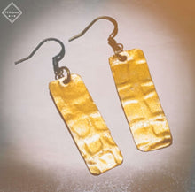 Load image into Gallery viewer, Vintaj art Metal embossed dangle earrings - Shabbydabbsdesign