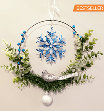 Load image into Gallery viewer, Modern Wreath / Snowflake Bird Wreath - Shabbydabbsdesign