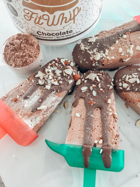 Coconut Keto Fit Whip Fudgesicles