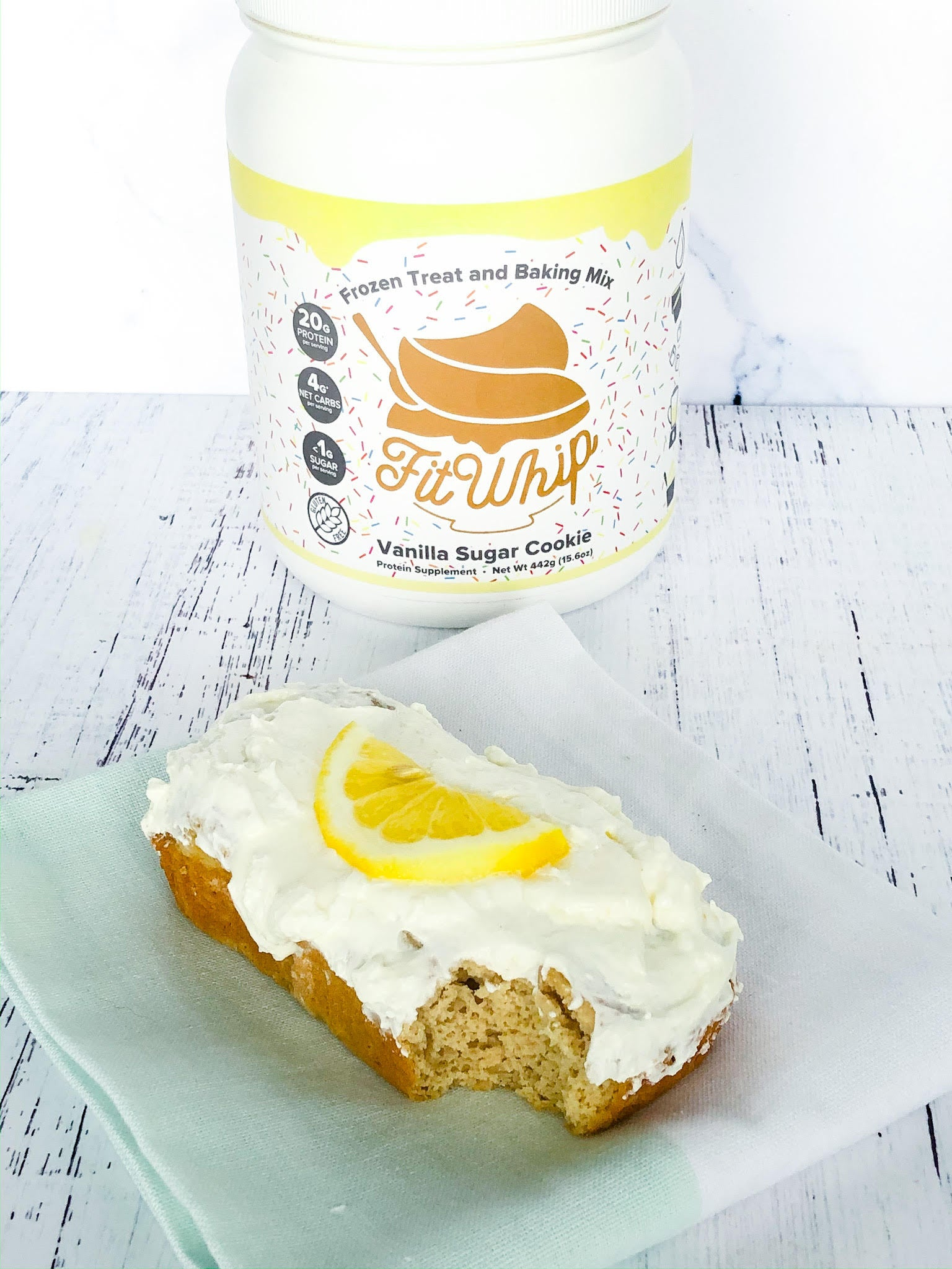 Fit Whip Lemon Vanilla Protein Cake