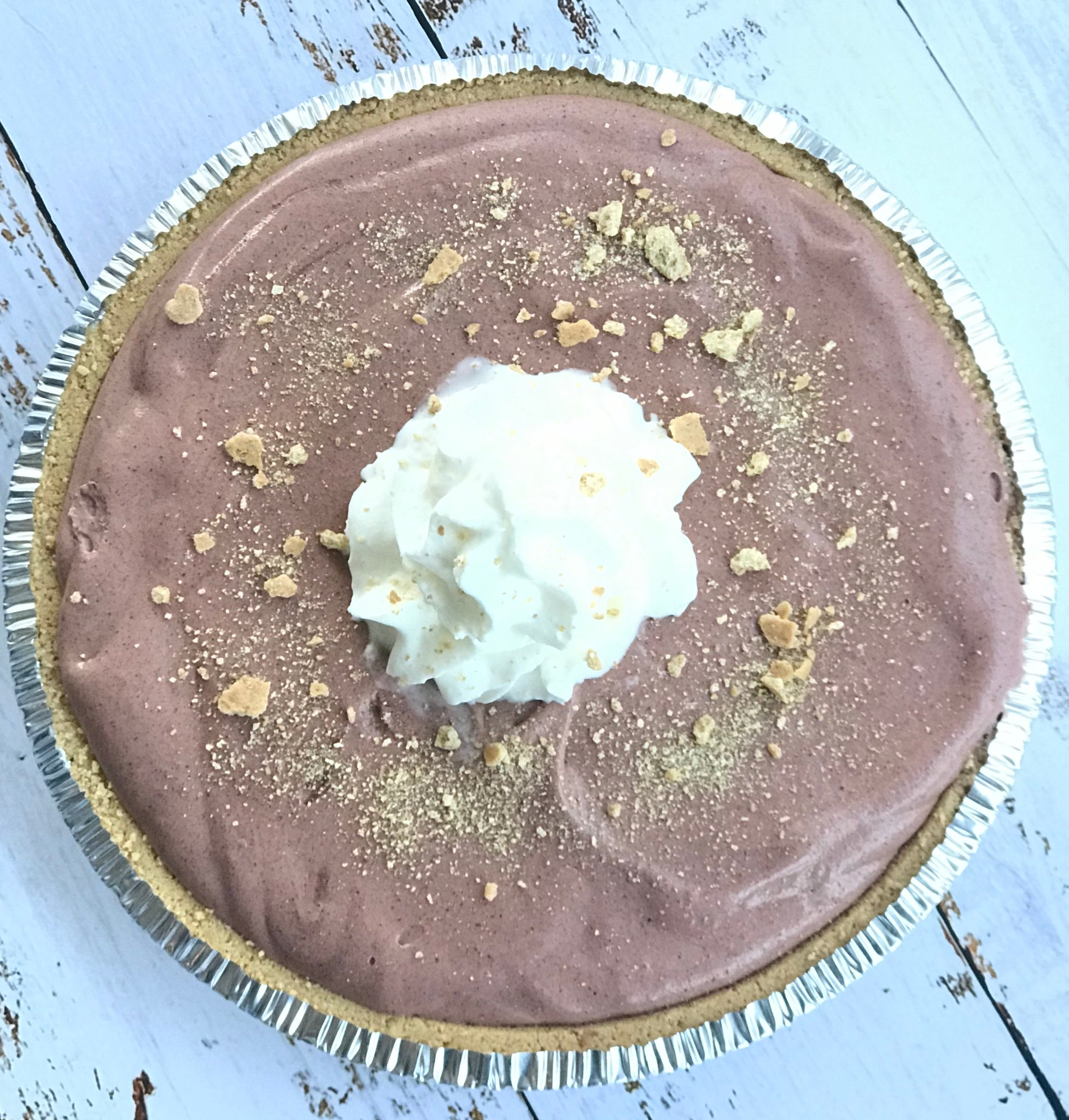 Chocolate Double Layer Pudding Pie