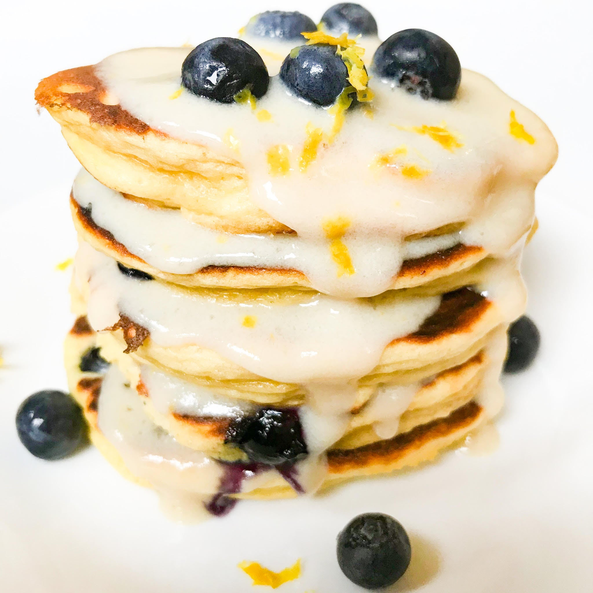 Fit Whip Lemon Blueberry Pancakes