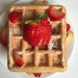 Strawberry Vanilla Fit Whip Protein Waffles